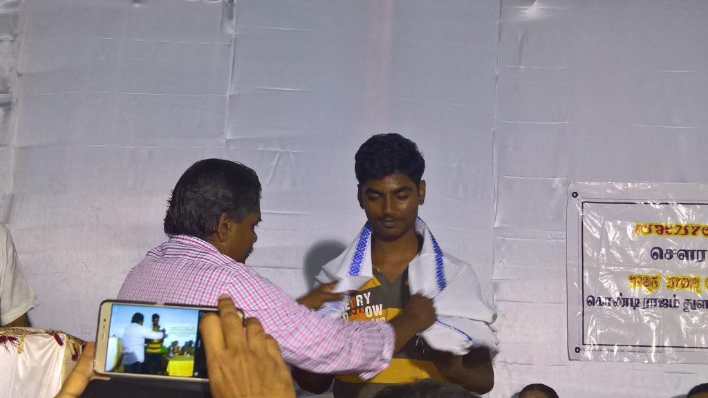 Brother Suriya getting appreciation for his work in background session of whole function